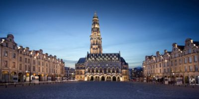 View of the The heroes place in Arras, France